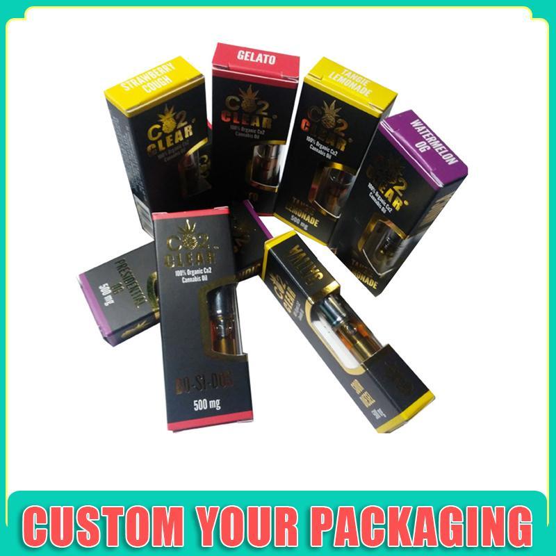 Пользовательские 1мл Vape Защита от детей Pen Корзина Упаковка Box Кнопка блокировки ящика Box Vape картридж Упаковка коробка с окном