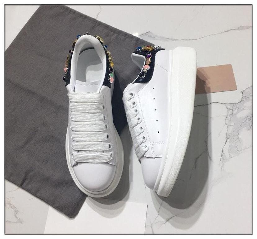 Lüks Tasarımcılar Çift rahat ayakkabı erkekler Kadınlar Ayakkabı Tasarımcılar Sneakers Erkek Moda Sneakers Casual Deri Ayakkabı eğitici