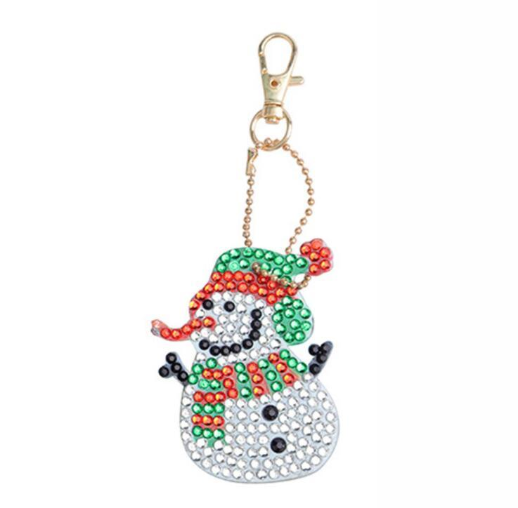 DIY Full Drill Diamond Painting Keychain Keyring Bag Decor Pendant Ornament Gift