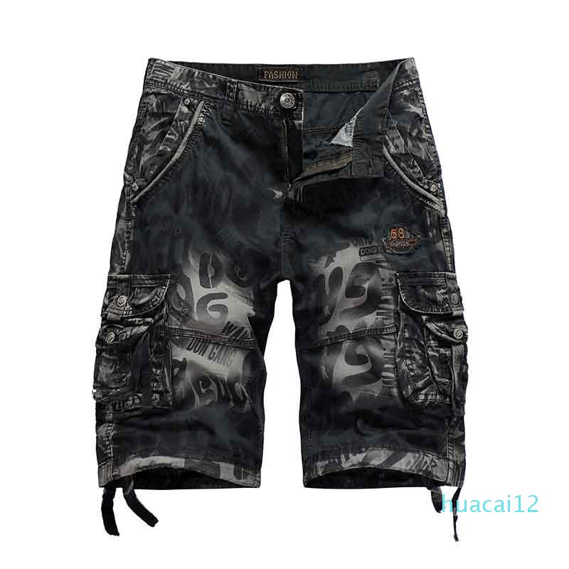Hot Sale Casual Men Pants 20SS New Summer Fashion Sports Cargo Shorts Fight Theme Popular Print Oversize Men Pants 3-Color Selected