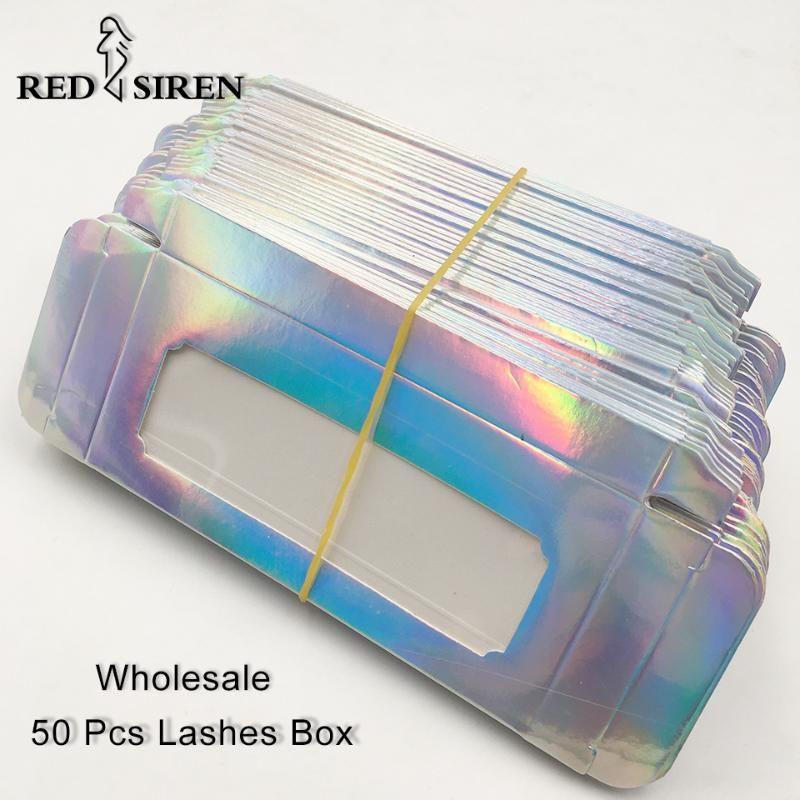 50 adet / lot Kirpik Kutuları Kirpik boşaltın Kağıt Kirpik Kutusu / Kirpikler Kılıf Kirpikleri Paketi 7 Renkler Ambalaj Toptan Toplu Packaging