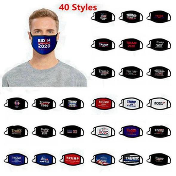 40 Art-Gesichtsmasken Trump amerikanische Wahl Supplies staubdicht Maske Universelles für Männer und Frauen-Flagge Maske 200pcs