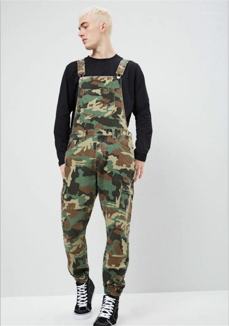 Overalls Designer Printed Jeans Jumpsuit Fashion Slim Male Clothing Camouflage Denim Mens