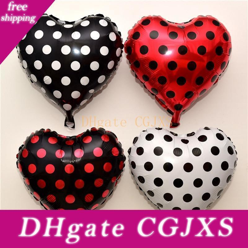 100pcs 18 Inch Black Red White Spot Dot Balloons Cartoon Series Happy Birthday Party Point Baby Toy Decor Globos Ladybug Balloons