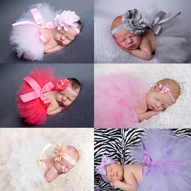 الطفل توتو اللباس الزهور تيارا دعوى للحصول على مجموعة الوليد التصوير الفوتوغرافي الدعائم تنورة والتقطت الصور طفلة فساتين اكسسوارات FOTOGRAFIA