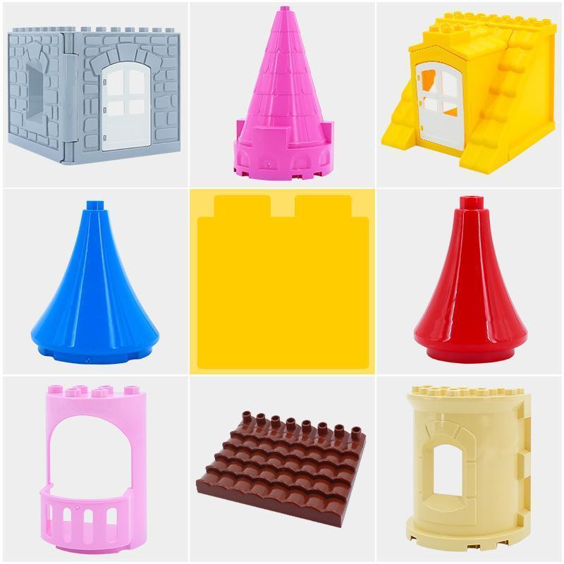 Grand bloc de construction de particules Accessoires de jouets, assembler, Toit, support de toit, Château, Mur, jouet éducatif, Noël pour les enfants de cadeau d'anniversaire