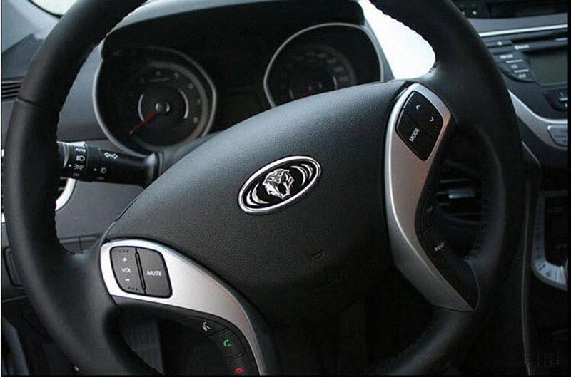 Tigre Dirección cabeza de la rueda emblema de la insignia 6.2X3.2cm para KIA RIO SPORTAGE 2013 2014 CEED CERATO SORENTO ALMA K5 K2 K3 K7 moderna IX35 RyOa #