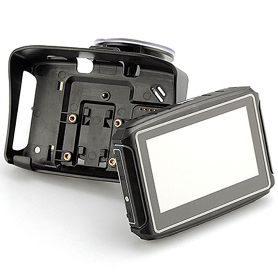 Navigazione GPS del motociclo da 4.3 pollici con supporto Bluetooth A2DP Auto impermeabile GPS Navigatore Touch Screen 256 MB 8GB Visiera del sole del sole