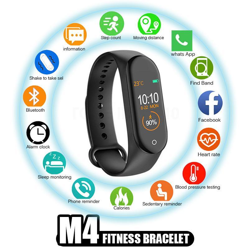 tasso M4 Wristband della fascia del cuore / Sangue / Pressure Rate Monitor / Contapassi / Bluetooth Wired intelligente Guarda sano