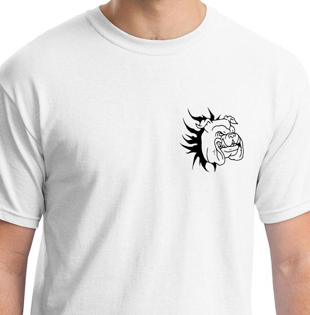 BEYAZ TIŞÖRT HAYVAN HEDİYE BIRTHDAY O-Neck ÜZERİNDEN 2019 Yeni Yaz Erkekler Sıcak Satış Moda BULLDOG PATLATMA Tee Gömlek Tops