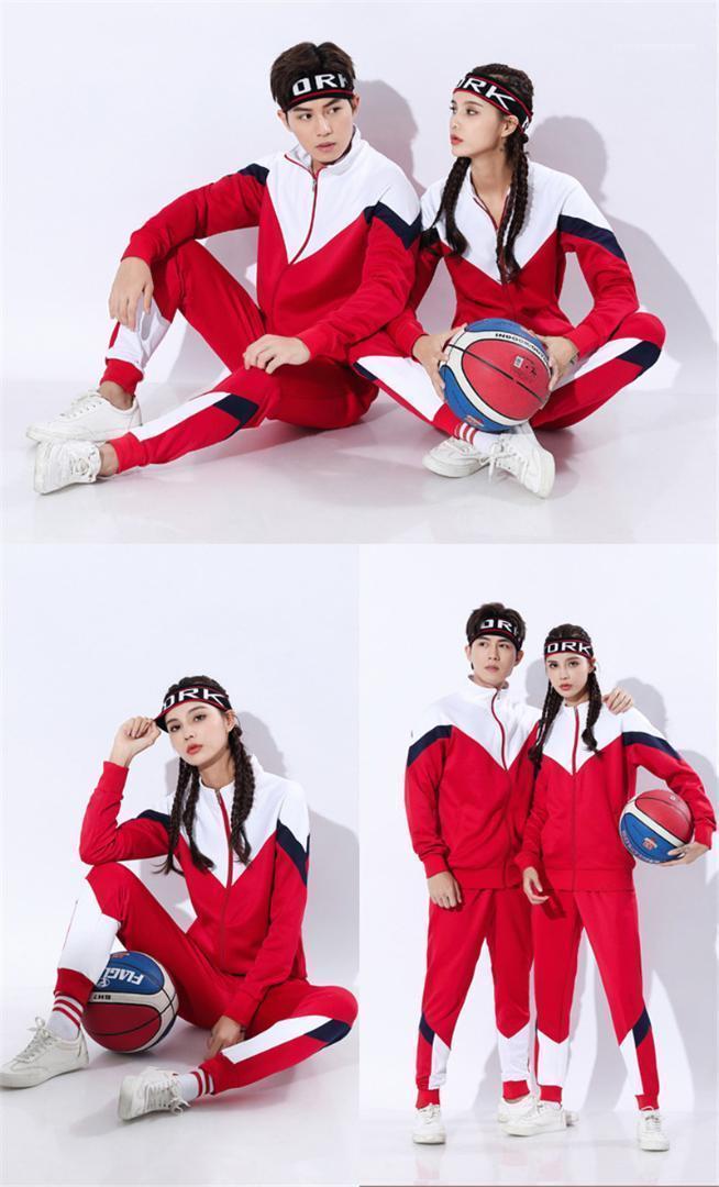 2PCS ذكر ملابس الربيع مصمم رجالي رياضية الأزياء نصب منصة محبوك قمم الرجال كم طويل عادية زيبر