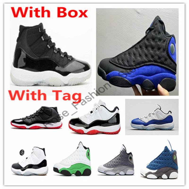 11 25th Anniversary 2.0 Schwarz Concord gezüchtet Space Jam Basketball-Schuhe 11s Gamma Blau 13 13s Hyper Königs Flint Atmosphäre Grey Sneakers