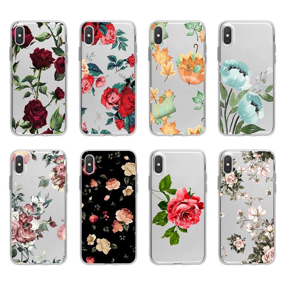 Dentelle Flower Soft TPU pour Samsung Note 10 Pro 9 S10 5G S10 plus A20E Paysage Lever du soleil Mer Montagne élégant Rose Mode Nombre Covers