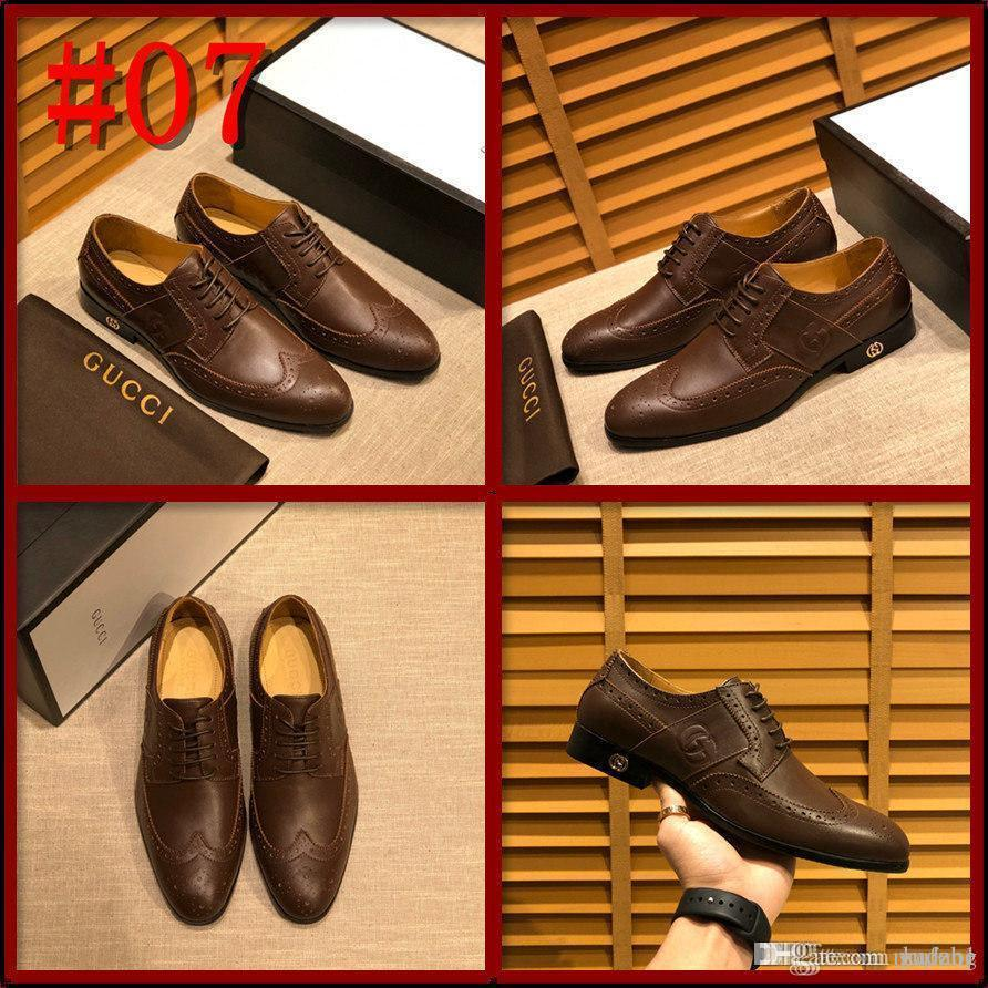 Male Leather Shoes Breathable Round Toe