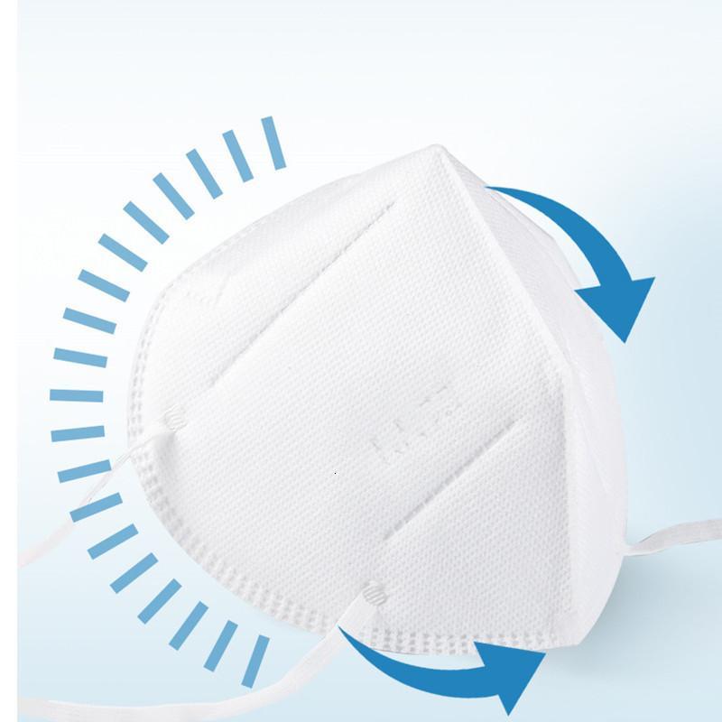 Azione negli Stati Uniti Mask 10pcs bianche monouso per adulti 5 strato di copertura di protezione per scatola fabbrica wholsale Maschere