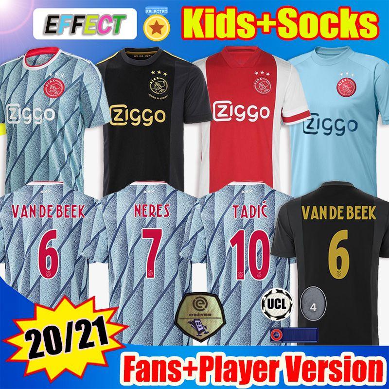 20 21 أجاكس أمستردام FC 50 لكرة القدم جيرسي 2020 2021 PROMES تاديتش النسخة NERES الرجال الأطفال لاعب كرة القدم قميص 50 سنة زي أطقم