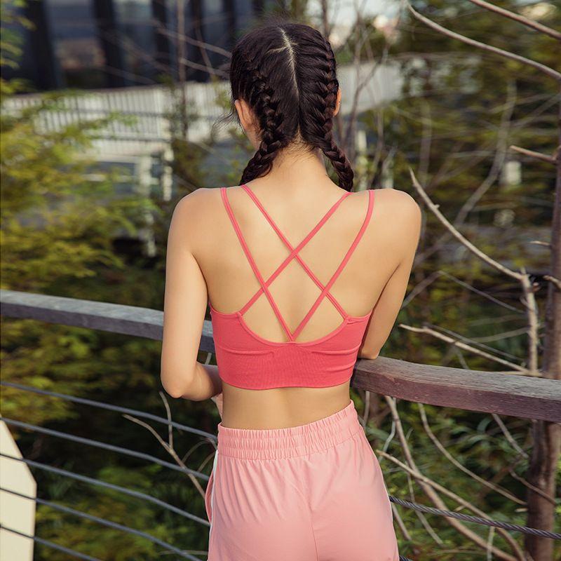 Nueva reproducción Yoga sujetador de los deportes Chinlon belleza de la aptitud Volver resistentes a la ropa interior del chaleco al por mayor / 30