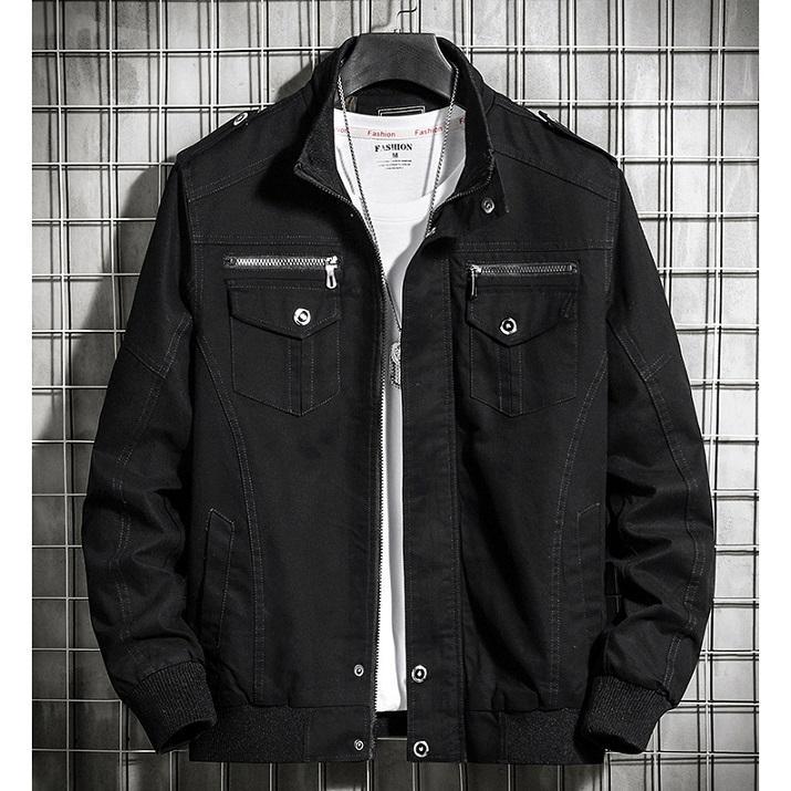 Hommes Workwear Vestes Mode solide Couleur Autum Vêtements Hommes Hommes Air Force Thin Jackets Mode Plus Size Coat 2020 Nouvelle Arrivée Vente chaude