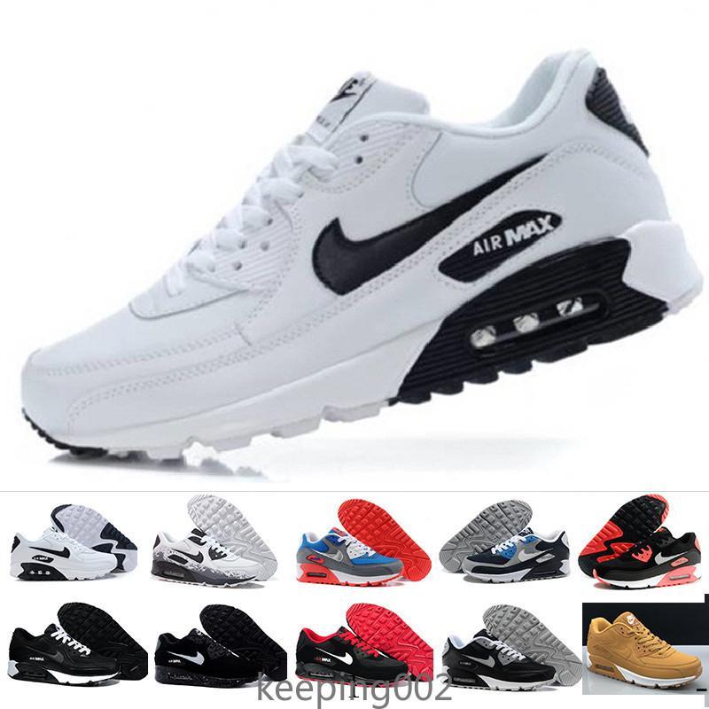 nike air max 90 90s airmax Schneller Versand 2019 Herren Schuhe Klassische 90 Männer und Frauen Schuhe Trainer Air Cushion Oberfläche Freizeitschuhe 36-45 ERFS0