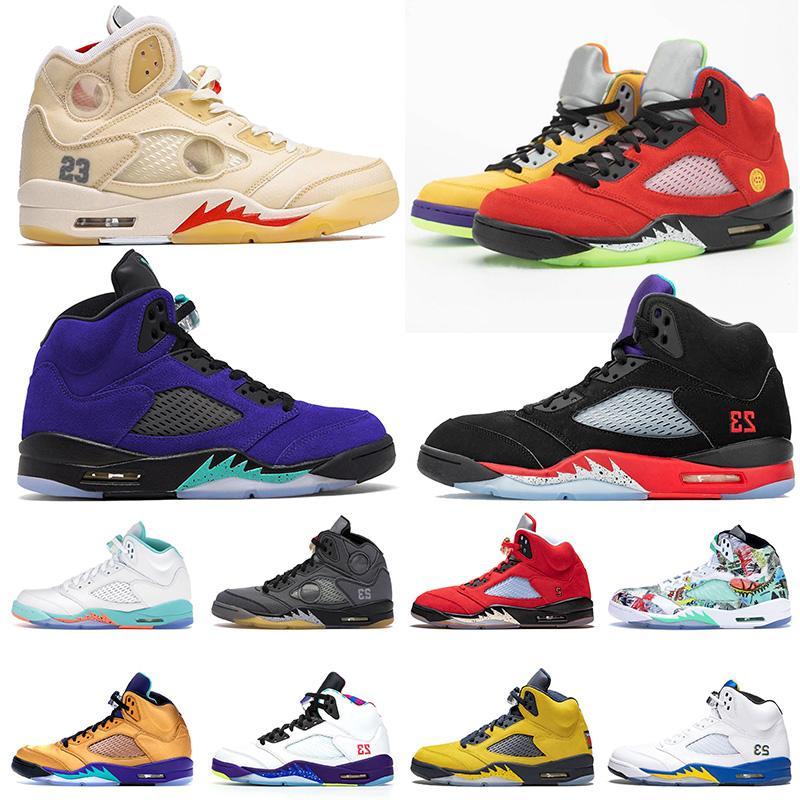 2020 New Jumpman 5 5s Mens Ce que le Bel Autre Retro Chaussures de basket Autre Grape Voile entraîneurs des hommes de femmes de taille Chaussures de sport 13