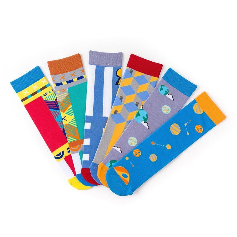 Mulheres homens unisex Meias engraçados curtos meias de algodão Skate colorido Harajuku Impressão japonês Grupo 1