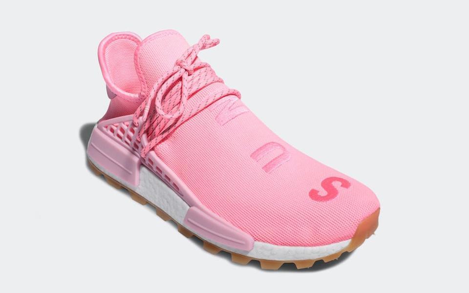 Yeni Otantik Pharrell Williams NMD HU PRD Sakız Paketi Hiper Pop Erkekler Kadınlar Işık Pembe-Gum insan ırkı Spor Sneakers EG7740 Koşu Ayakkabıları x