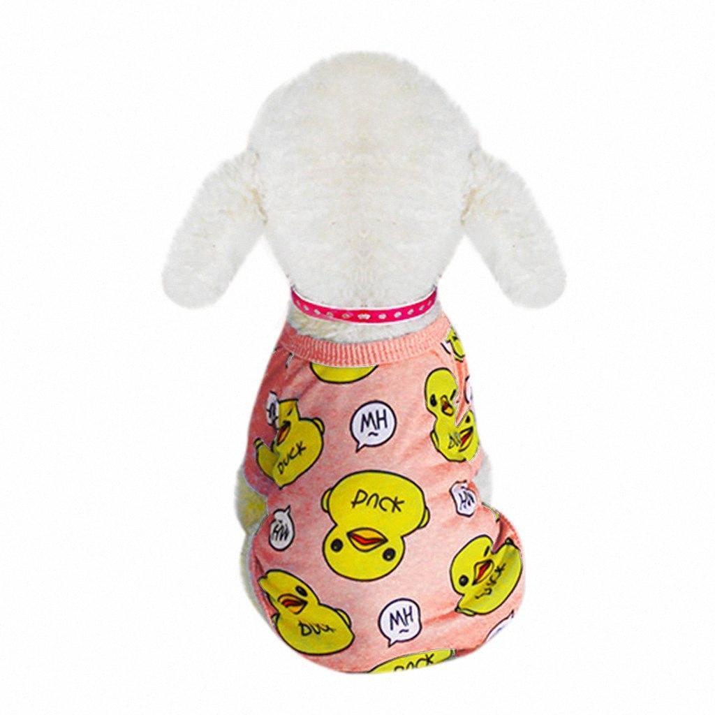 Camisa de moda para mascotas ropa para mascotas Perro Primavera Y Verano patrón de pato de dos patas ropa para perros Disfraces acogedor para mascotas Accesorios Cachorro jJ1Z #