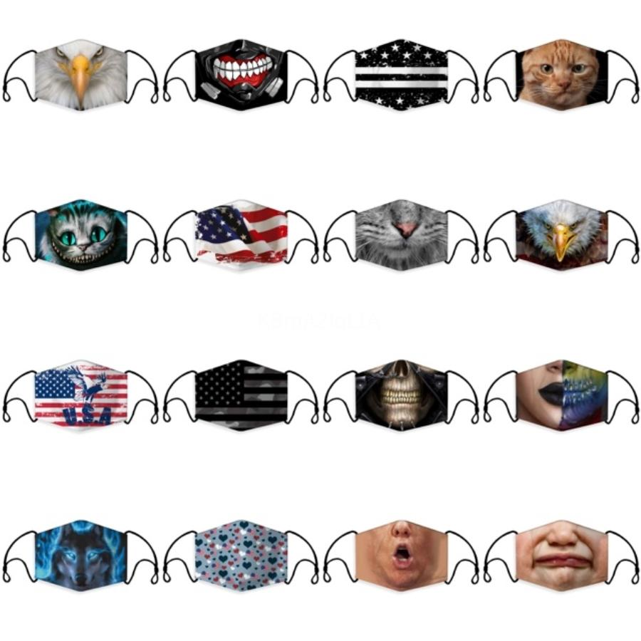 Waschbare Earloop Maske Radfahren Anti-Staub-Mund-Gesicht abwaschbar Sicherheitsstufen 500Pcs Prevent Airborne Mask # 873