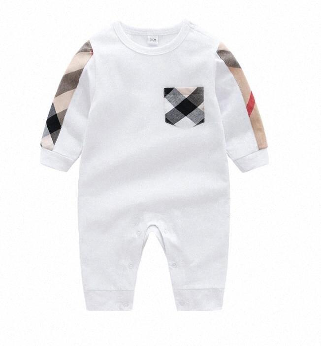 Sonbahar Kış Moda Erkek Bebek Giyim Uzun Kollu Bebek Rompers Yenidoğan Pamuk Kız Bebek Giyim Tulum Bebek Giyim h3jL #