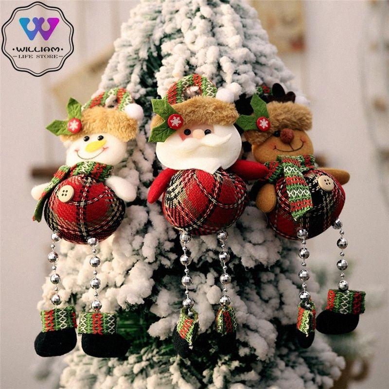 2020 Новый год Висячие ноги рождественские куклы украшения украшения оленей Снеговик Подвеска партия Для дома Xmas Gift украшения fbXx #