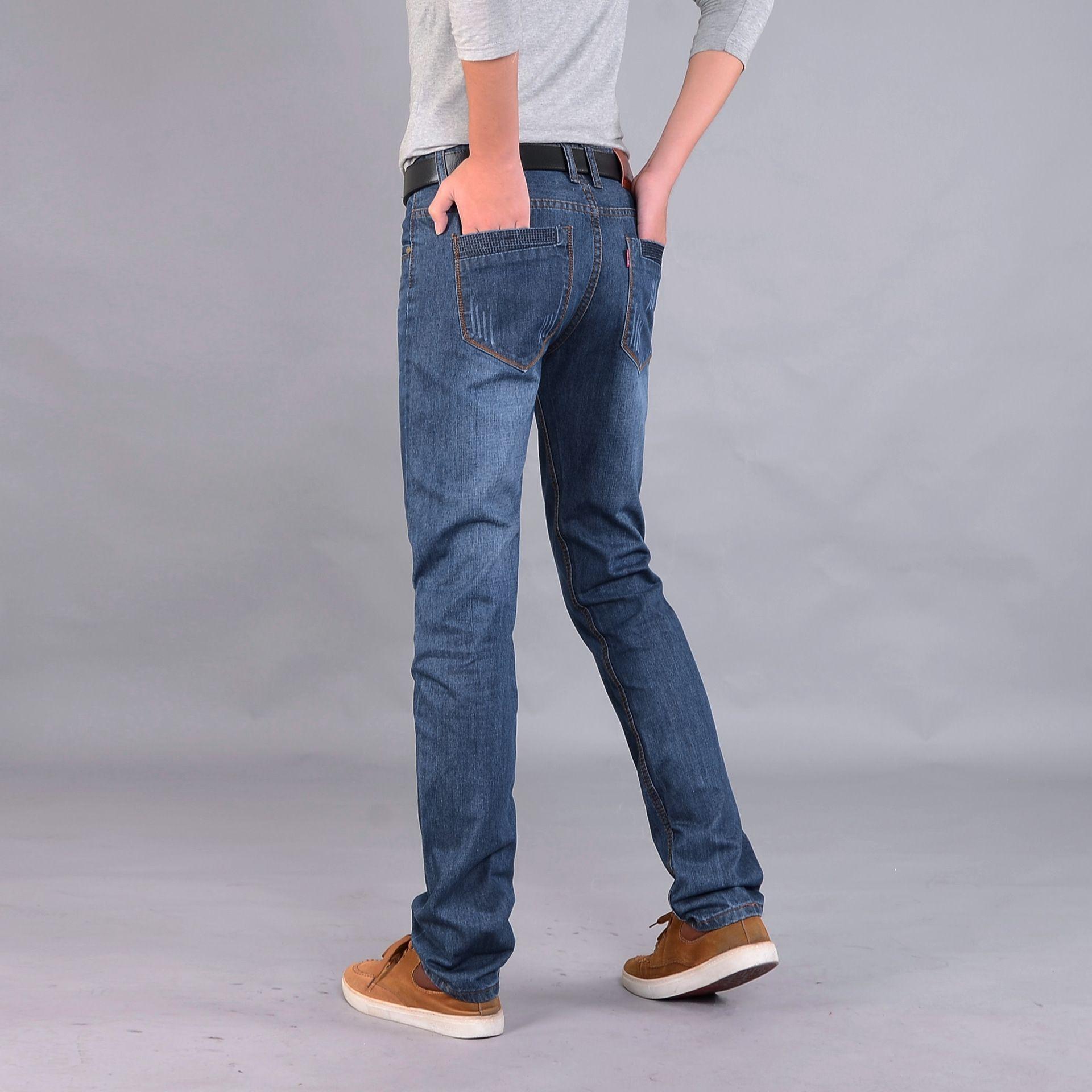 gençlik iş kot ve kot pantolon Four Seasons cr7EK yönlü Erkekler düz gevşek orta bel pantolon erkek moda