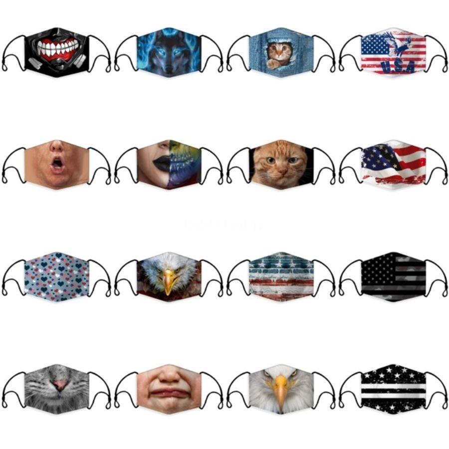 PM2.5 Filtre Unisex Anti Toz nefes Vana Yüz Ağız ile 20 Renk Kamuflaj Yeniden kullanılabilir Yüz Maskesi # 642 Maske