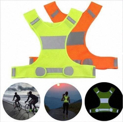 Visibilidade Reflective Vest ao ar livre coletes de segurança Camisola de Ciclismo Noite Trabalho Correndo Sports roupa ao ar livre de Aviso de Tráfego roupas Vest RSSS #