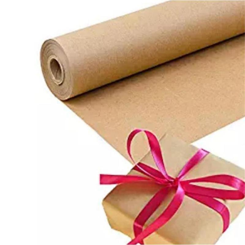 30m Brown Kraft rollo de papel hecho a mano 30cm de ancho para regalo de boda fiesta de cumpleaños de envolver Craft del rollo de papel del cartel Decoración