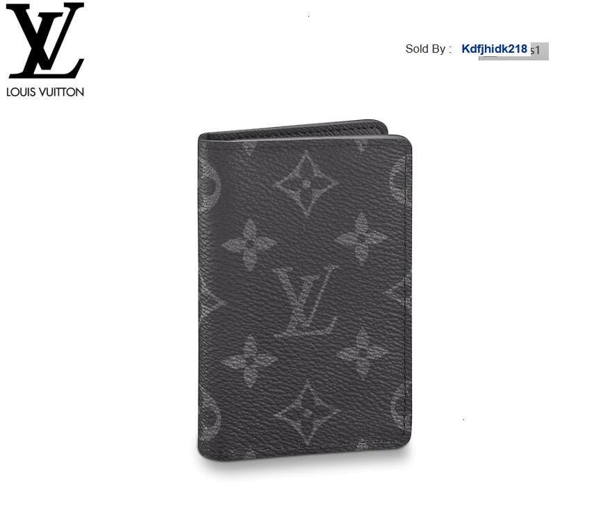 KDFJHIDK218 WMMZ M61696 tasca organizer UOMINI vera e propria catena portafogli in pelle COMPACT BORSA pochette da sera CHIAVE titolari di carta