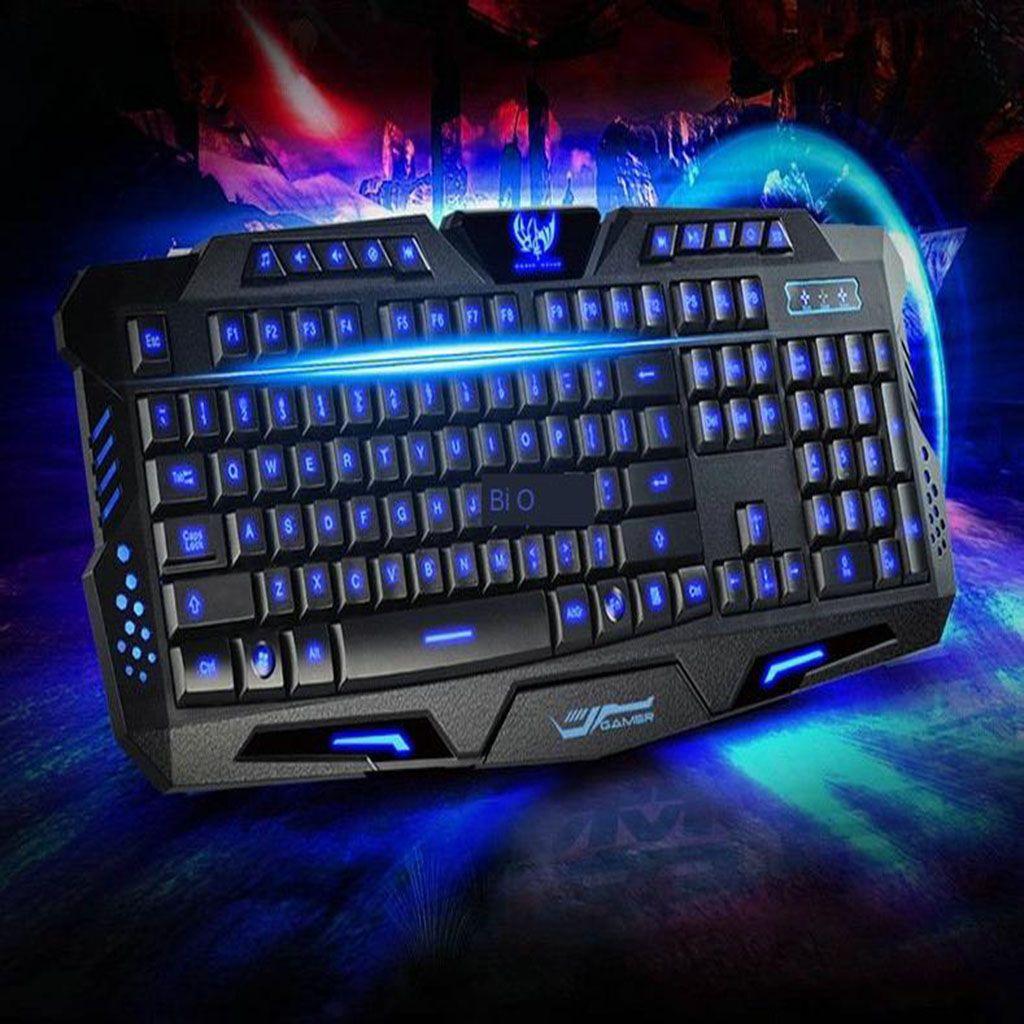 M200 Juegos Respiración LED 3 teclado de color crack para PC de escritorio del ordenador