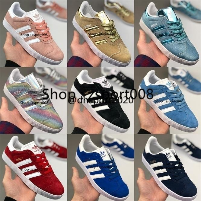 Adidas top quality Suede Gazelle Og Qw Men Women Low Casual gazelle Trainer Chukka Black Red pink Grey Lightweight Breathable Walking Hiking Shoes