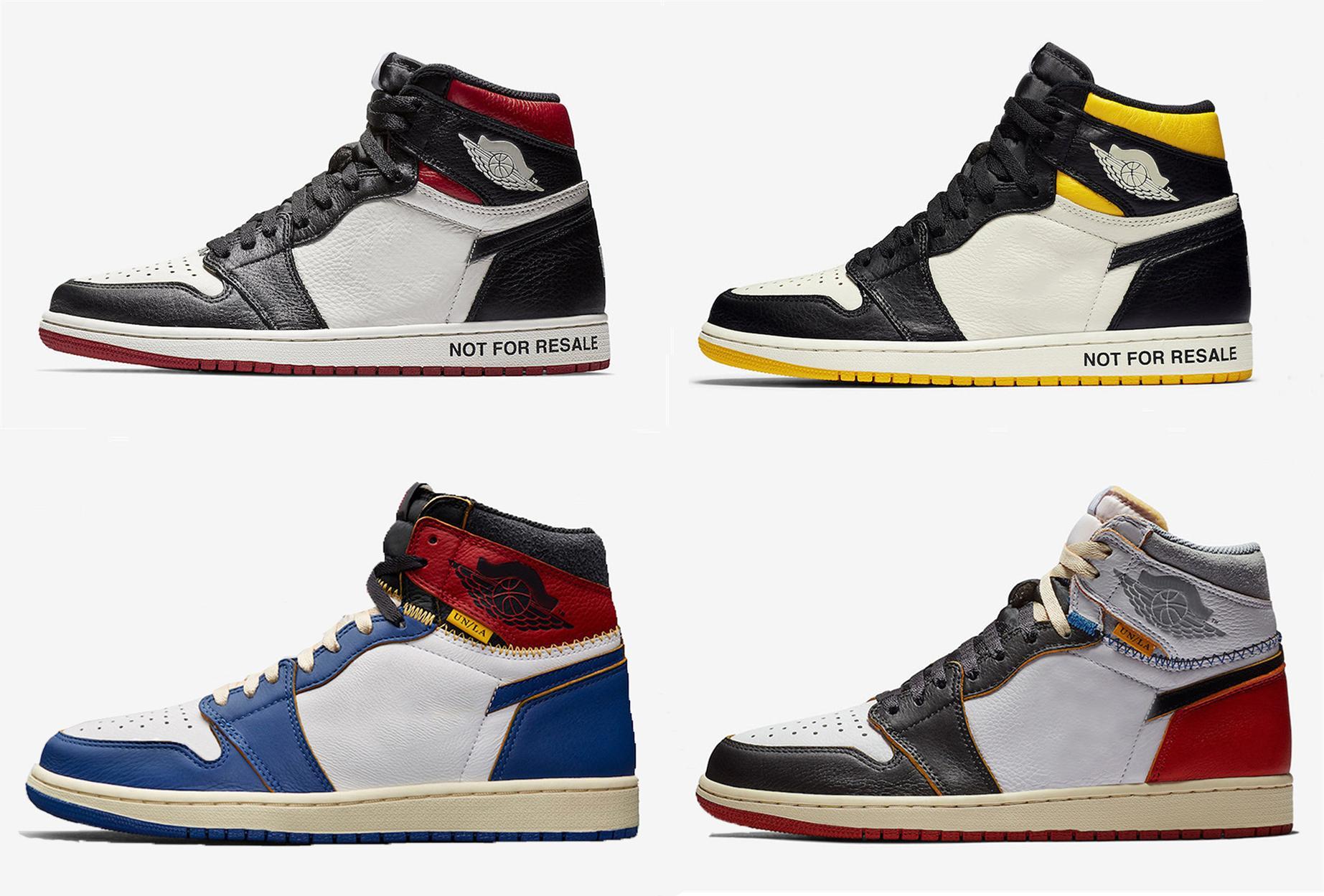 Nueva Unión de lanzamiento x 1 zapatillas de deporte de alta OG NRG no para los zapatos de baloncesto del hombre 1S Bred reventa Sin Ls Amarillo Negro Blanco real de cuero con OG Box