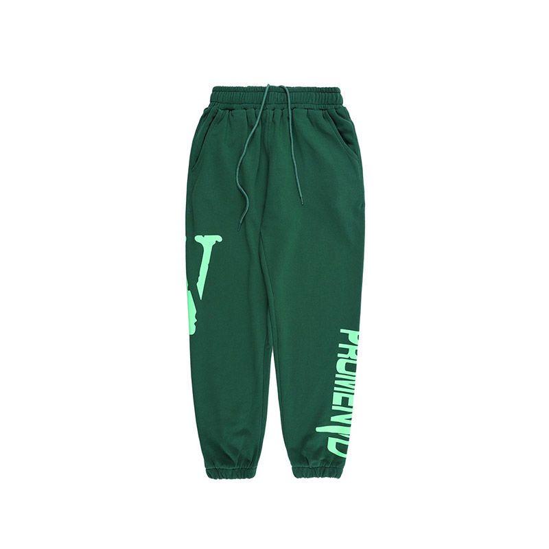 Vlone calças dos homens Moda Sweatpants Corredores das mulheres dos homens de alta qualidade Esporte Calça de Jogging feixe Pé Calças Tamanho S-XL
