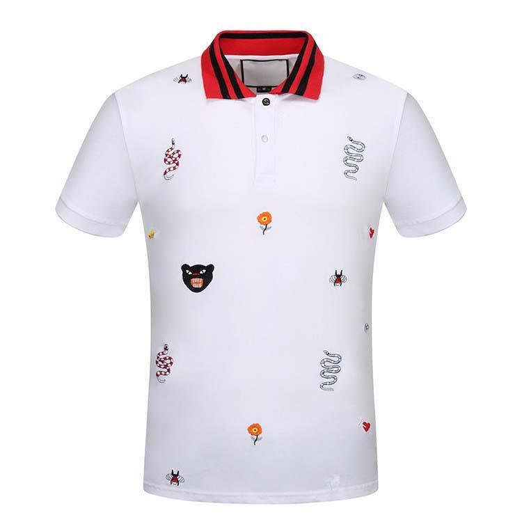 Brand New Fashion Mens Polo Polo Manica Corta da uomo in cotone a righe Poloshirt Poloshirt High Street Polo Top T Shirt 3XL
