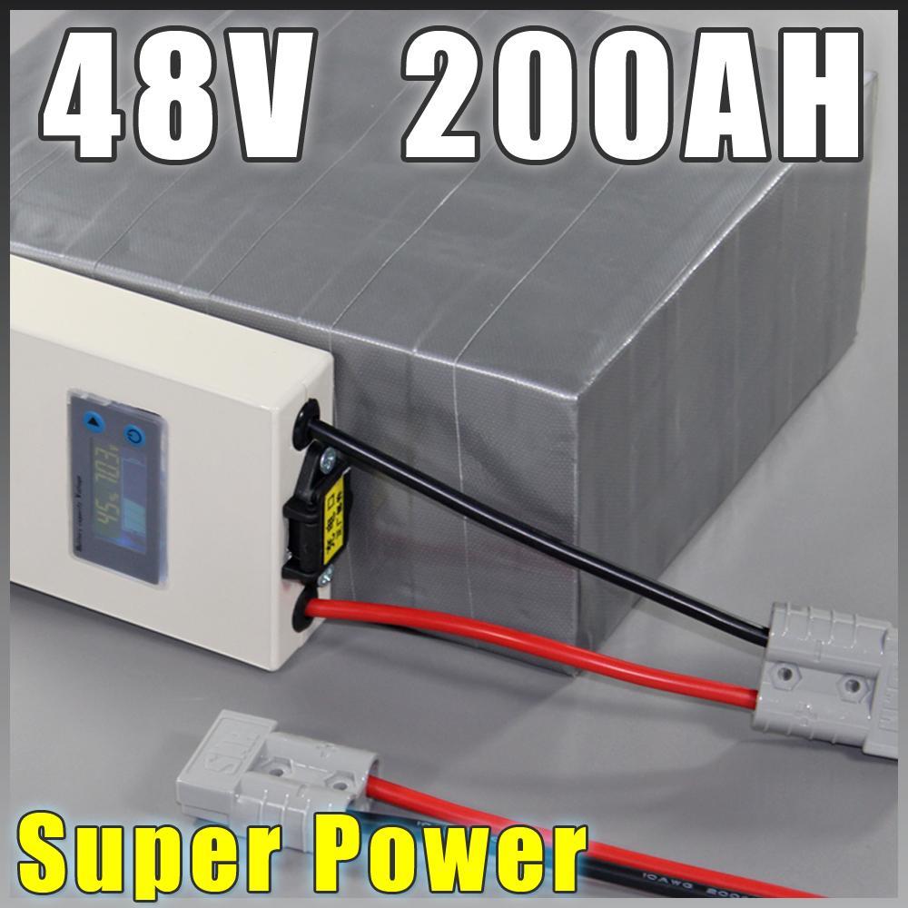 LiFePO4 batteria 48V 200AH Super Power EV Auto Moto Scooter E Battery Pack 10kw BMS