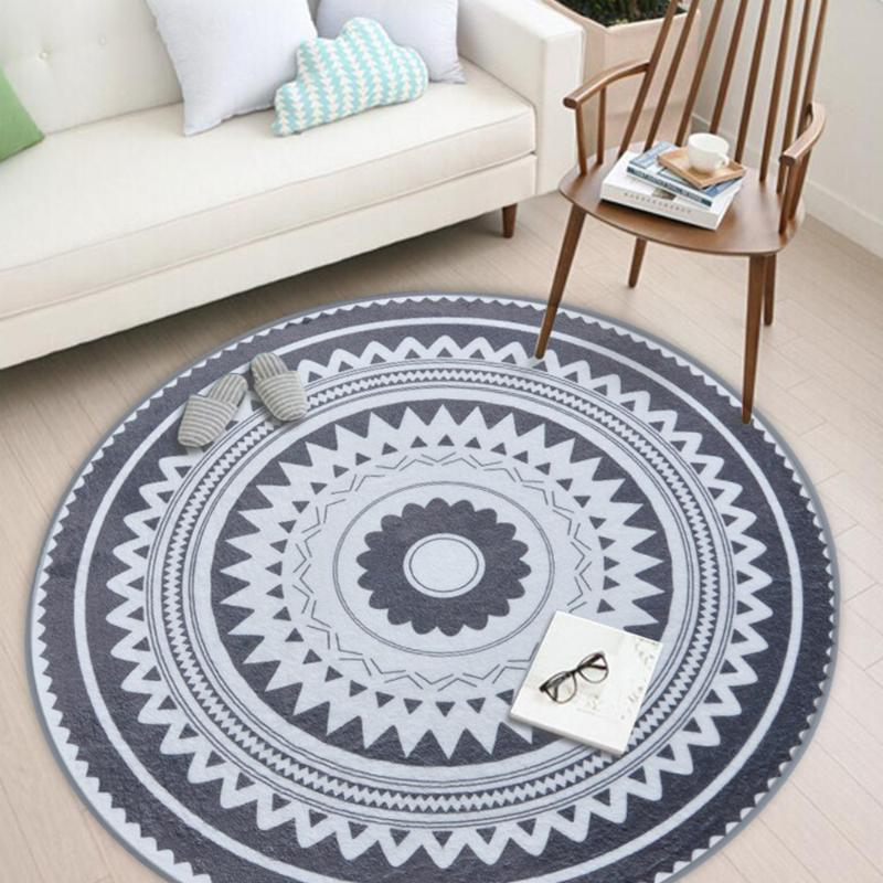 Carpets Nordic Modern Plush Floor Rug Round Area Carpet For Living Room Bedroom Home Textile Decor Rugs Geometric Kids Play Game Mats
