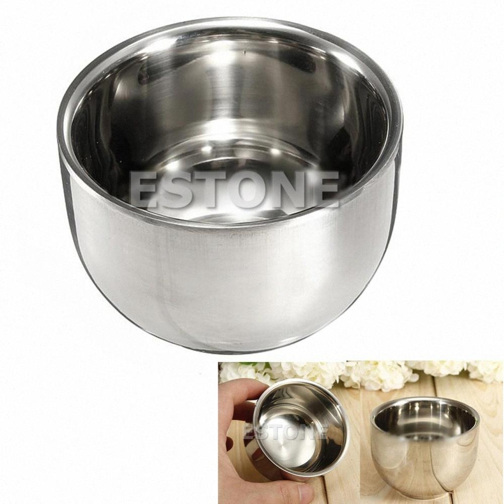Wholesale New Stainless Steel Metal Shaving Shave Brush Mug Bowl Cup 7.2cm Cup Mat Mug Press r2Ty#