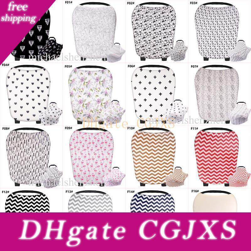 32 Style Ins Stretchy Cotton Baby Nursing Cover Breastfeeding Stripe Safety Seat Car Cover Privacy Cover Scarf Blanket Breast Feeding B001