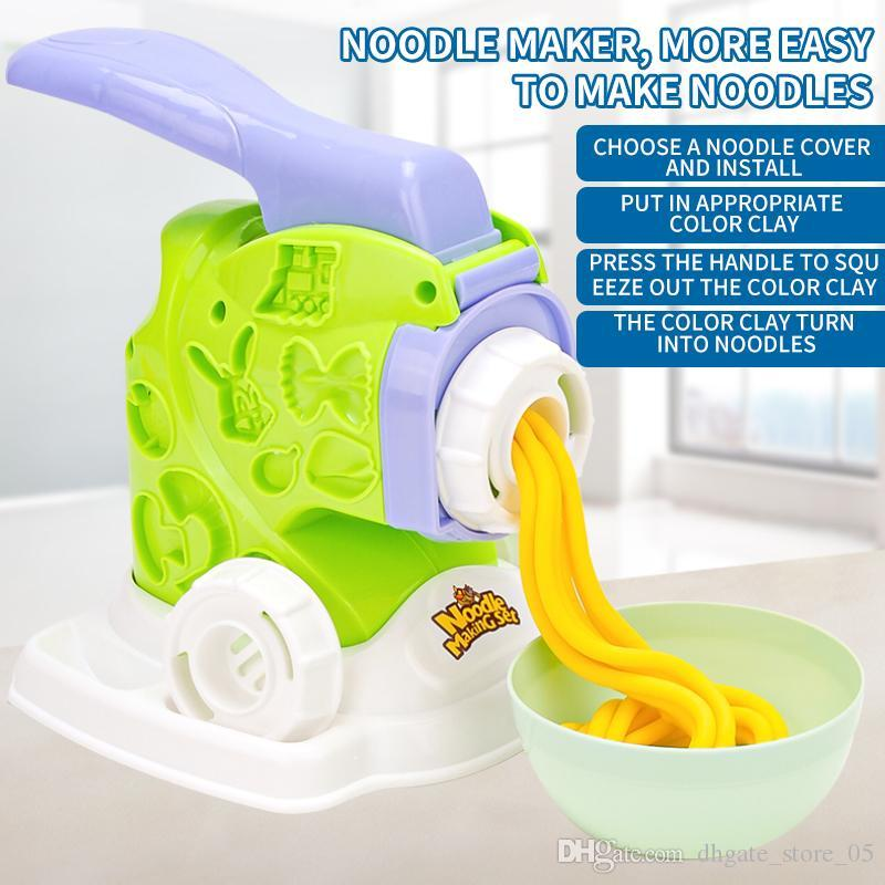 Kid Toy Color Clay Noodle Maker Pretend Play and Dress-up Kitchen Workshop Model Toy for Baby Wholesale
