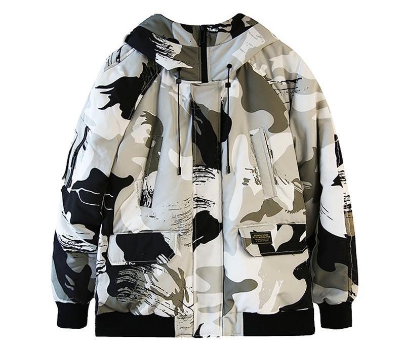 Con cappuccio di alta qualità anatra Piumini Uomo Camouflage spesso caldo il 90% di Down Cappotti inverno maschio soprabito Parkas Man66