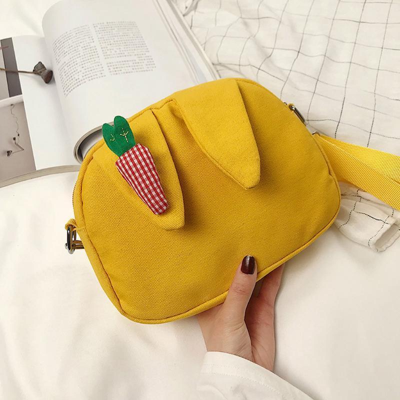 Симпатичная новая новая мода животных мода малыш скрещивание сумка закуска сумка посылка 2020 редька уха плечо дети мультфильм сумочка 3d смешной мешок творческий nssn