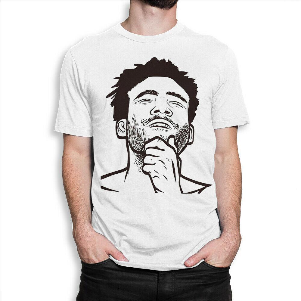 Childish Gambino Graphic T-Shirt, Donald Glover Tee, os homens de todos os tamanhos forma fresca camiseta