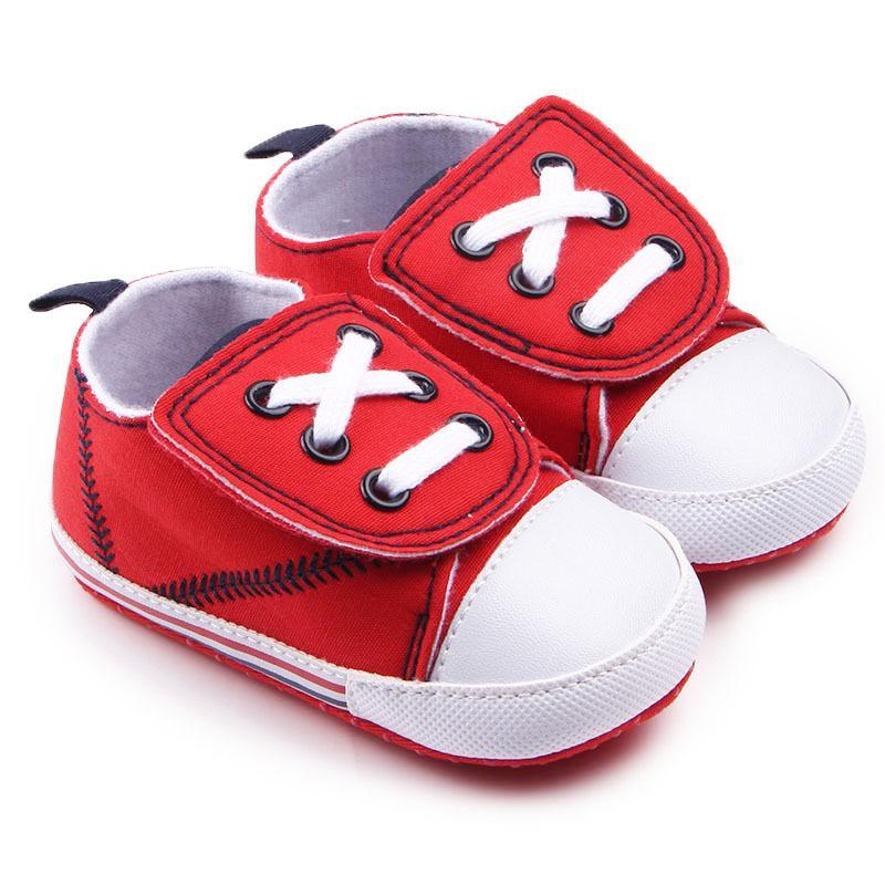 Kleinkind Newborns Canvas-Baumwollgewebe-Kreuz-gebunden Babyschuhe Erste Wanderer beiläufige Baby-Mädchen-Schuhe 0-18 Monate