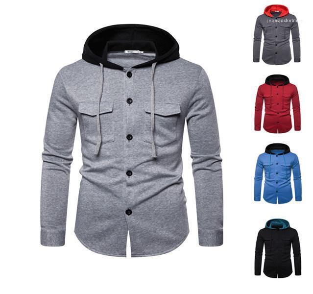 Kleidung Lässige Herren Designer Hoodies Mode Langarm mit Kapuze Kontrast-Farben Sweatshit Pullover Mode-Männer Herbst